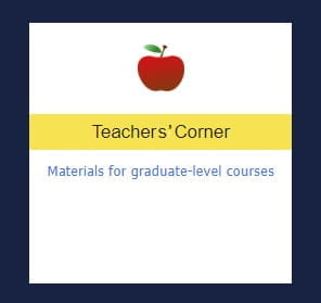 Teachers' Corner: Materials for graduate-level courses